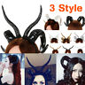 Halloween Demon Horns Mori Girl Antelope Sheep Horn Hoop Headdress Hair