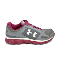 Under Armour Micro G Assert 5 Running Shoes Womens Size 9 Gray Sneakers 1252307