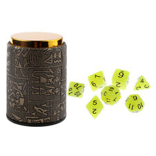 1 Set Dice Cup+Polyhedral Noctilucence Dices for Dungeons and Dragons