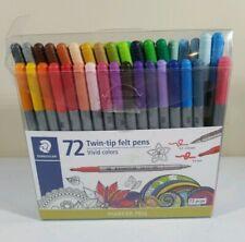 (Open Box) New Staedler 72 Twin-tip Felt Marker Pens (67 TOTAL) Vivid Colors