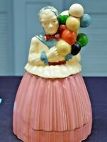 Pottery Guild of America 1940s Balloon Lady Ceramic Cookie Jar 12""