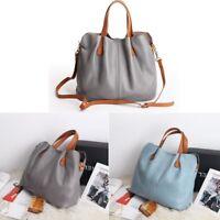 New Women Soft Cowhide Genuine Leather Tote Handbag Crossbody Shoulder Bag