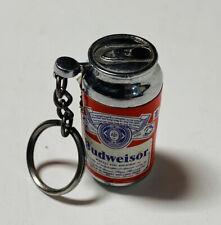 Budweiser Keyring Lighter Miniature Can Working Vintage Misspelled Label