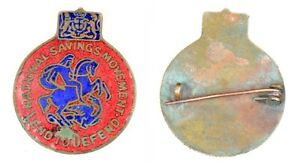 Vintage British Collectible Enamel Brooch National Savings Movement.G29-83 US