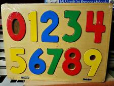 New Bemiss-Jason Creative Learner Wood Wooden Easy Out Classic Number Puzzle Toy
