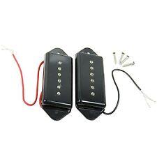 1 Sets of 2 pcs Vintage Guitar Parts Dog Ear Pickups Black New