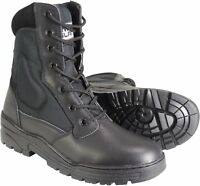 Leather Black Army Patrol Combat Boots Tactical Cadet Security Police 922