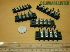 Mixed Lot of 5 Vintage Jones Wiring Wire Terminal Block/Strip 4&5 port +others