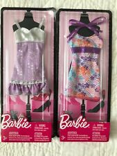 NEW BARBIE Fashionista Dreamhouse Glam PINK Fashions Lot of 2 Dresses