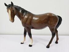 PORCELAIN BESWICK HORSE Thoroughbred Stallion BROWN