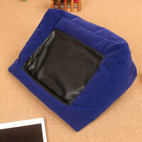 Pad Pillow Stand for Ipad E-Reader Cushion Tablet Holder Plush -Blue