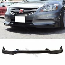 Fit 11-12 Honda Accord Front Bumper Lip Black PU Material 4Dr