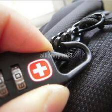 High Quality 3dial Safe Number Code Padlock Combination Suitcase Luggage Lock CA