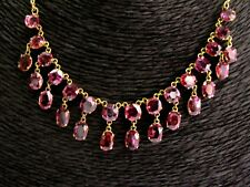 18Kt Natural Spinel & Yellow Gold Dangle Necklace 24.00Ct 17""