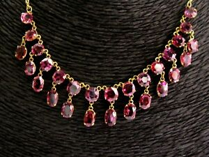 """18Kt Natural Spinel & Yellow Gold Dangle Necklace 24.00Ct 17"""""""