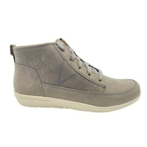 Vionic Womens Shawna Booties Gray Zip Lace Up Weather Resistant 9 New