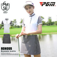 PGM Golf Training T Shirts Women Quick Dry Breathable UV Protection Sports Suit