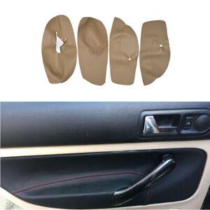 4pcs Microfiber Leather Car Door Armrest Cover Case For VW Golf 4 2004 2005 RHD