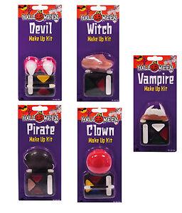 Make up + Hörner, Nase, Zähne Dracula, Hexe, Teufel, Pirat  Fasching Halloween