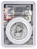 2019 S Apollo 11 50th Anniversary Proof Clad Half Dollar PCGS PR69 First Strike