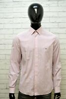 LACOSTE Uomo Camicia Camicetta Maglia Taglia 41 ( L ) Slim Shirt Manica Lunga