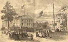 1865 Eight Engravings - Richmond, Virginia - Elections, Tobacco, James River