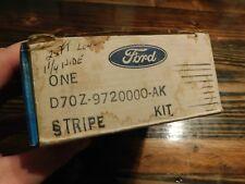 NOS 1977 1978 FORD MUSTANG II LOWER BODY SIDE STRIPE KIT IN AQUA D7OZ-9720000-AK