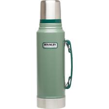 Stanley Classic Vacuum Bottle, Stainless Steel, 1.1 Qt, Hammertone Green, New.