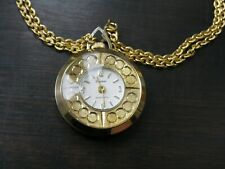 Lucerne Pendant Watch Swiss Made Antimagnetic Shock Resistant Gold Plated Watch