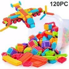 120Pcs Bristle Shape 3D Building Blocks Tiles Construction Playboards Toy Kit