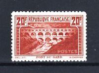 "FRANCE STAMP TIMBRE 262 B "" PONT GARD 20F CHAUDRON DENTELE 11 "" NEUF xx TTB T363"