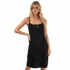 Women's adidas Originals Sleeveless Scoop Neck Cotton Dress in Black