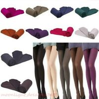 Colourful Women Thick Warm 120D Opaque Pantyhose Footed Stockings Hosiery Tights