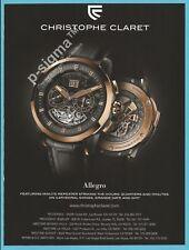 CHRISTOPHE CLARET Allegro - watch Print Ad # 199 4
