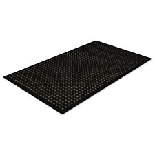 Crown Safewalk-Light Drainage Safety Mat Rubber 36 x 60 Black WSCT35BK