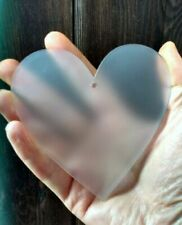Frosted Acrylic Hearts, Circles & Stars, 100m with hole cut, 3mm Perspex