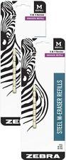 Zebra Steel M Mechanical Technical Pencil Eraser Refills 14 Count Fix Mistakes