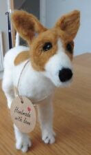 HAND MADE WHITE AND TAN TERRIER
