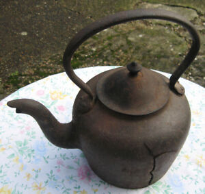 Old Cast Iron Kettle