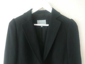 Jigsaw Womens Black Wool Blend Blazer Jacket size 10