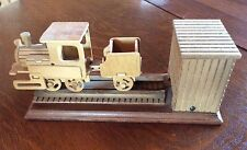 Wooden Moving Railway Train Engine Railroad Locomotive Musical & Moves
