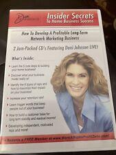 Dani Johnson's Insider Secrets to Home Business Success-How to Develop.2 Cd set
