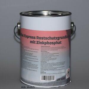 Silac Rostschutzgrundierung mit Zinkphosphat Haftgrund grau 2,5 Ltr.