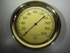 """Vintage - ASHCROFT Brass Pressure Gauge - 10"""" Brass Bezel  0 - 200 PSI"""