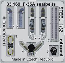 Eduard Zoom 33169 1/32 Lockheed Martin F-35A Lightning Ii Cinturones De Seguridad Acero italer