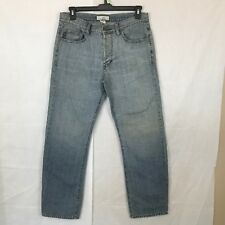 Armani Exchange  Mens Jeans Destroyed Distressed Blue Relaxed Straight 33X 33