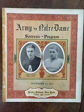1927 Notre Dame vs Army Football Program/KNUTE ROCKNE/CHRIS CAGLE/CLIPPER SMITH!