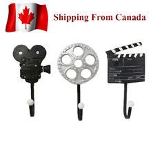 Retro Vintage Film Camera Cinema Movie Wall Rack,Decorative Wall Hook, Coat Rack