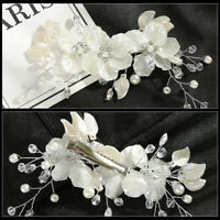 Pearl Flower Crystal Hair Pins Clips Bridesmaid Side Comb Wedding Bridal Hot