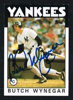 Butch Wynegar #235 signed autograph auto 1986 Topps Baseball Trading Card